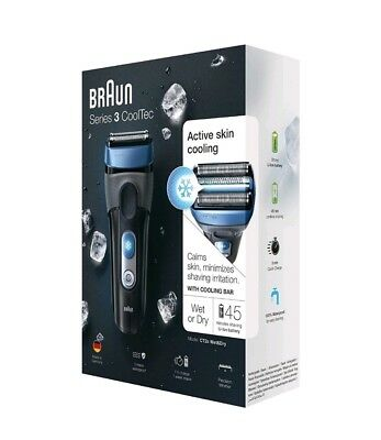 Braun Series 3 CoolTec CT2s Wet&Dry Cooling Bar Electric Foil Mens Shaver Xmas