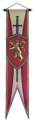 "Calhoun Game Of Thrones House Sigil Felt Wall Banner (12"" By 60"") (Lannister)"