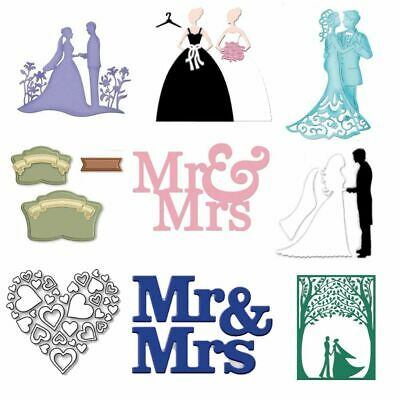 Wedding Couple Cutting Dies MR&MRS Scrapbooking Embossing Paper Cards Stencils