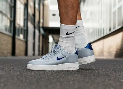 new arrival a54b4 f3f05 NIKE AIR FORCE 1 '07 Wolf Grey Mens Leather Classic Low-top Trainers ...