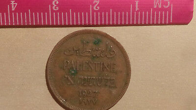 1927 One Mil Palestine coin