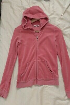 fc2566e8 $228 Juicy Couture Pink Crown Velour Tracksuit Robertson Hoodie Jacket Xs