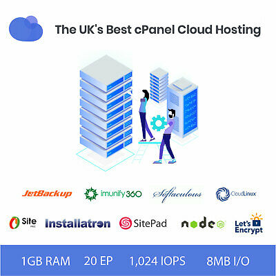 1 Year Premium UK cPanel Cloud Web Hosting Free SSL Jet Backup Free .CO.UK
