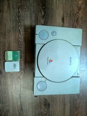 Sony PlayStation Launch Edition Gray Console with two memory cards