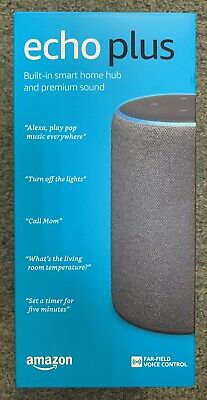 Echo Plus (2nd Gen) - Premium sound with built-in smart home hub - Charcoal New