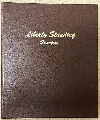 Liberty Standing 25c 1916 - 1930S Dansco Album, Excellent Condition
