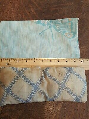 Vintage/antique Doll Bed Pillow with Hand Made Pillow Case free shipping