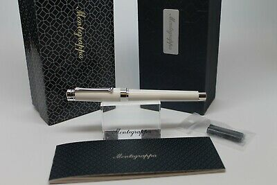 Montegrappa Parola White Fountain Pen Fine Nib Msrp 295.00