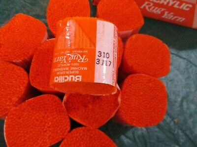12 Packages of Vintage Bucilla #310 Persimmon Acrylic Latch Hook Yarn