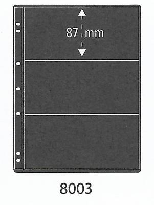 PRINZ ProFil 3 STRIP BLACK STAMP ALBUM STOCK SHEETS Pack of 5 Ref No: 8003