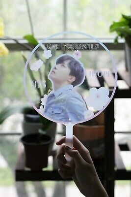 BTS Clear Fan LY Tear Love Yourself Cheer Transparent Picket