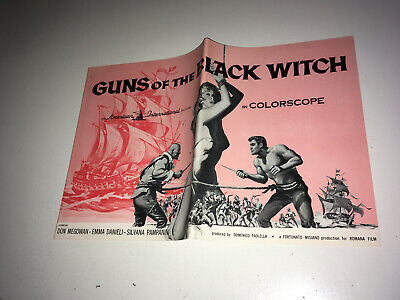 GUNS OF THE BLACK WITCH Movie Pressbook 1961 AIP Pirates Sexploitation Adventure