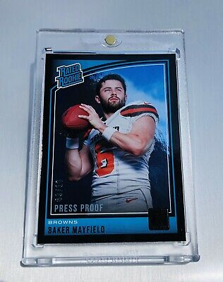 2018 Baker Mayfield Donruss Rated Rookie Mirror Black Press Proof-Only 10 Made💎