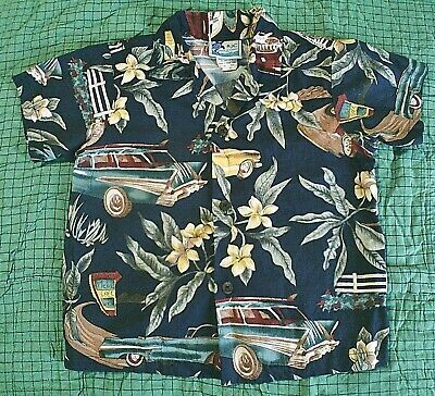 RJC Hawaiian Aloha Shirt Boys sz 4T Classic Cars Made in Hawaii USA