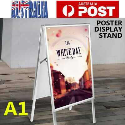A1 Double Sided A-frame Display Snap Board Advertising Poster Stand Holder