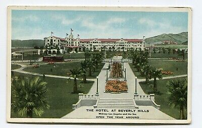 Vintage Postcard THE HOTEL AT BEVERLY HILLS CA color front view