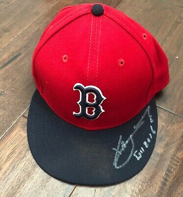 e419eb6a0 Xander Bogaerts GAME USED 2016 HAT signed WORN autograph Red Sox MLB Auth
