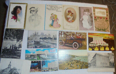 Lot OF Antique Vintage Postcards,1900s. Used And Unused , stamps