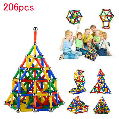 Magnetic Building Blocks Sticks Construction Kids Educational Toys