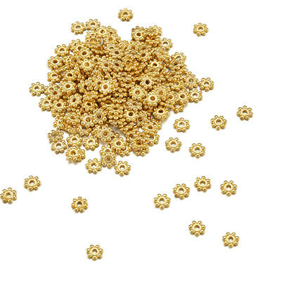 1000PCS Alloy Spacer Beads For DIY Craft Jewelry Making Golden 4.5mm Hole: 1mm