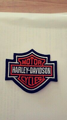 Harley Davidson patch, Willie G Patch, HOG, Dyna, Street, HD Shield & Bar Orange