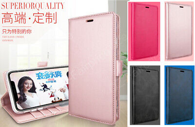 iPhone 7 8 X XS XR Plus Max Genuine Leather Flip Wallet Card Case Cover