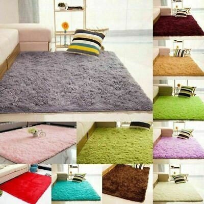 Soft Plain Shaggy Mats Washable Non Slip Large Small Bedroom Fluffy Rugs Runners