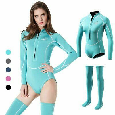QVL1901 Female Adult Diving Suits Swimwear Couplet Thickened Diving Suit CO