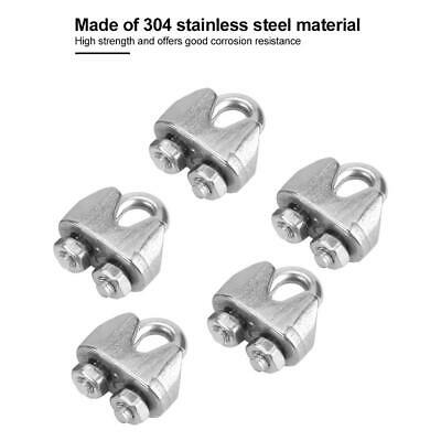 100 Pieces M2 304 Stainless Steel Wire Clips Cable Rope Clamps U Shape Bolt