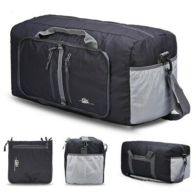 Extra Large [Foldable 40L] Travel Duffel Bag Holdall Luggage with Handle & Strap