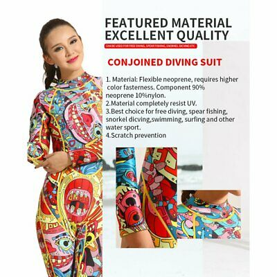 3mm Diving Suit Warm Cr Surf Suit Long-sleeved Conjoined Sunscreen Waterproof XS