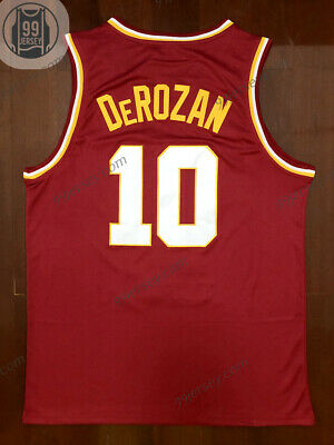 online store cd6c7 65561 DEMAR DEROZAN #10 USC College Throwback Stitched Basketball Jersey RED