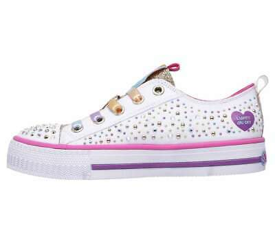 Details about New SKECHERS Girls Twirly Toes Shuffles Light Up Sneaker Shoes Size 3.5 (M)