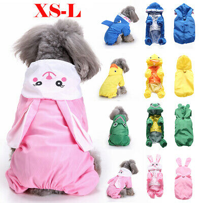 Pet Dog Rain Coat Jacket Waterproof Hooded Raincoat Puppy Outdoor Clothes Outfit