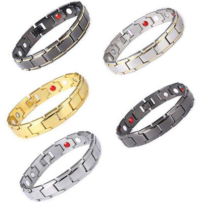 Therapeutic Energy Healing Health Bracelet Titanium Magnetic Therapy Weight Loss
