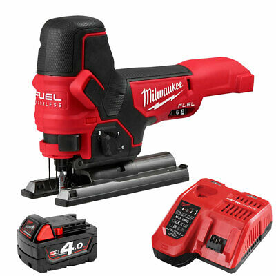 Milwaukee M18FBJS-0X 18V Brushless Jigsaw With 1 x 4.0Ah M18B4 Battery & Charger