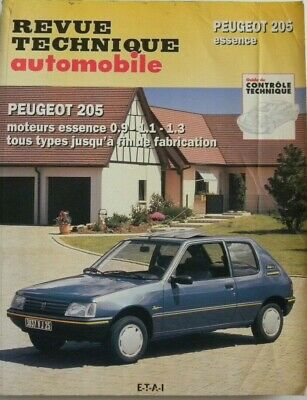 revue technique automobile RTA Peugeot 205 essence cip 708.2