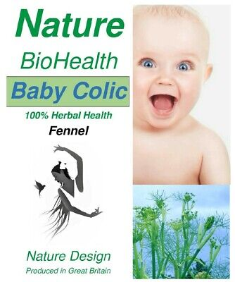 Organic Fennel Herbal Tea for Baby Colic Bloated Stomach Cold & Coughs Relief