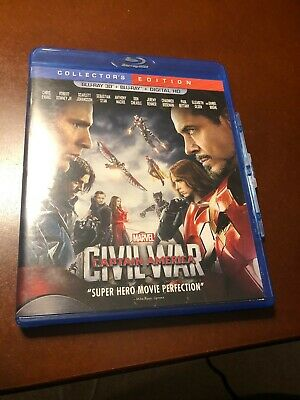 CAPTAIN AMERICA CIVIL WAR(4K ULTRA HD DIGITAL CODE+BLU-RAY) W/Slip/Cover/Case