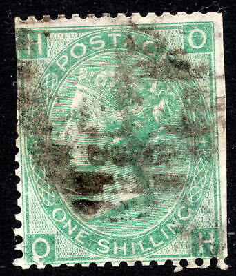 GB QV 1865 1s 1/- Green SG101 Fair Used with Trimmed Margins - Spacefiller