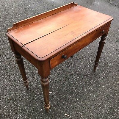 Antique mahogany side table with drawer