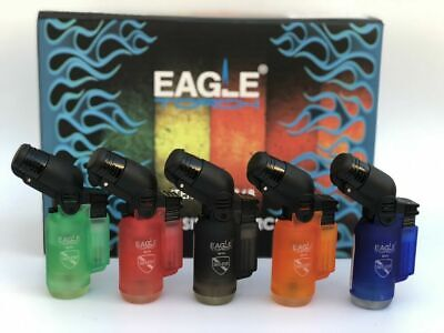 Eagle Angle Single Torch Lighter w/Safe Stop Jet Flame Pack of 2