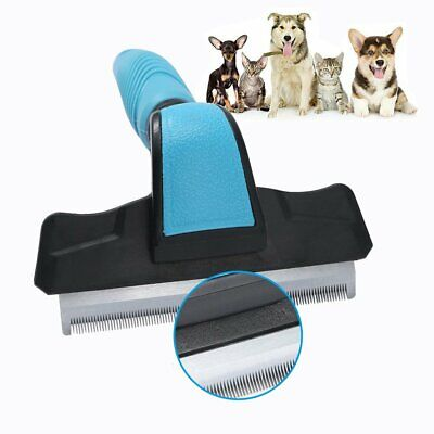 Pet Grooming Brush DeShedding Tool Comb Trimmer Dog Cat Hair Fur Removal Rake TO