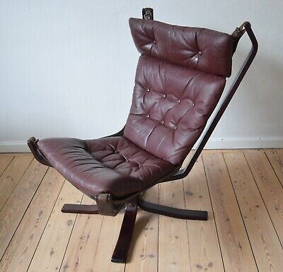 Mid-Century High-Back Danish Falcon Chair. 1970s.