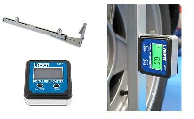 Gunson 77137 Trakrite Camber Bar Tool AND Laser Tools Digital Inclinomter 6657