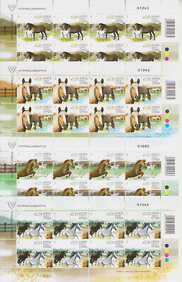 Cyprus Mnh Stamp Set 2012 Horses In Their Natural Habitat Full Sheets