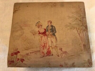 Charming Antique French Fabric Boudoir Box