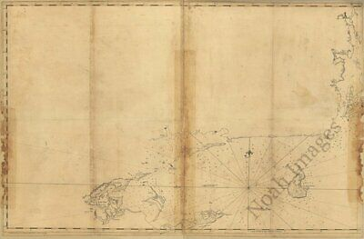 Coast of Rhode Island c1779 map 16x24