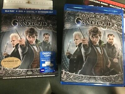 Fantastic Beasts - The Crimes of Grindelwald BLU RAY DVD - no digital/extended