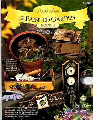 Priscilla Hauser Decorative Painting Pattern Book THE PAINTED GARDEN BOOK II 2